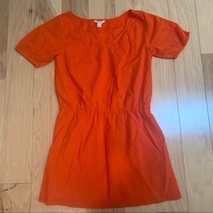 J. Crew orange coverup Dress Short Sleeve